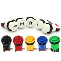 Wholesale New Arcade Push Button Durable Multicade MAME Jamma Game Long Switch Mult color