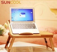 Cheap creative bedroom and dormitory notebook computer bamboo desk bed folding lazy simple book table