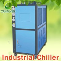 air cool chiller - 10HP industrial air cooled chiller CUM AC air cooled scroll type industrial chiller refrigerant charging machine with customized voltage