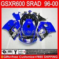 Wholesale Blue black gifts For SUZUKI GSXR GSX R600 HM1 GSXR SRAD GSXR600 Fairing Glossy blue