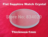 Wholesale pc mm Selected Size mm Flat Sapphire Watch Crystal Round Glass Accessories Watch Repair Crystal