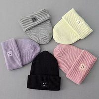 Wholesale 2T13 European Fashion women winter warm Knitted Smile Embroidery patchwork casual brand Headgear Headdress Various