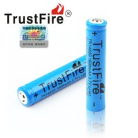 Wholesale Trustfire rechargeable Battery V mAh Li ion Camera Flashlight Torch Battery