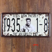 Wholesale CP70 Elvis Metal Tin Signs License Plate Bar Pub Cafe Home Art Metal Signs Size about cm