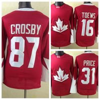 team canada jerseys - 2016 Olympic Team Canada Red Hockey Jerseys Sidney Crosby Carey Price Jonathan Toews Hockey Jersey Stitched Name and Number