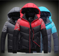 Wholesale NK Winter Mens Jackets Coats Outerwear Cotton Padded Jacket Lover s Sport coat Hooded Padded Size M XXXL Colors Winter Hot Selling
