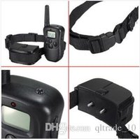 Wholesale 200pcs CCA1994 High Quality Pet Trainer meter Electronic Shock Vibra LCD Display Remote Control Pet Dog Training Collar For Dog
