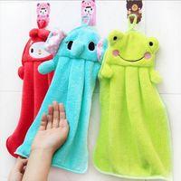 Wholesale Wholesle Cartoon Absorbent Hand Dry Towel Children Nursery Hand Towels Animal Kitchen Bathroom Hanging Wipe Towel
