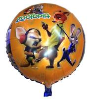 animal ballons - 2016 Zootopia foil balloons Animals Action Figure foil ballons Rabbit Judy Hopps Fox Nick Wilde Movie balloon Kids Gift