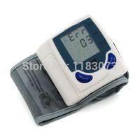 Wholesale Digital LCD Wrist Arm Cuff Blood Pressure Monitor Heart Beat Meter Machine Gauge Tester Sphygmomanometer