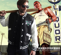 Costume Accessories auto uniforms - Grand Theft Auto GTA Cosplay Costume Hoodie Rider dress baseball uniform Zipper size M XXXL Autumn Winter