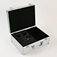 Wholesale NEW Portable Silver Tattoo Kit Carrying Case Lightweight Aluminum w Lock Key