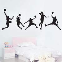 basketball entertainment - high quality Personality Fashion Basketball Removable Wall Decor Sticker for Living Room and Boys Bedroom