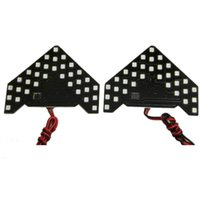 Wholesale 2 Super Sequential LED Arrows Indicator SMD Car Side Mirror Turn Signal LED Lights Red