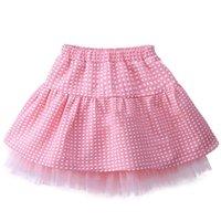 Wholesale 2016 Girls Princess Skirts Baby Lace Gauze Dot Half Shirts TUTU Dress Kids Pink Wave Point Skirts Children Party Ball Gown DHL