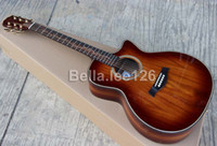 acoustic guitar handcrafted - Custom guitar store OEM handcrafted cut away acoustic KOA material body rosewood fingerboard guitars