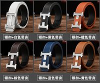 Wholesale H word buckle belt Men s leather belt Men s belts belts smooth mouth belt Ms belt