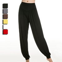 belly dance harem pants - Promotion Sale Women Loose High Waist Sport Pants Ladies Casual Harem Pants Yoga Belly Dance Trousers Plus Size Colors UA0078 smileseller