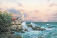 beacon painting - High tech Thomas Kinkade HD Print Oil Painting Art On Canvas beacon of hope x36inch Unframed