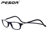 Wholesale 2016 New Arrival Fashion Halter Reading Glasses Foldable Men Women Aged Magnet Oculos De Leitura T05