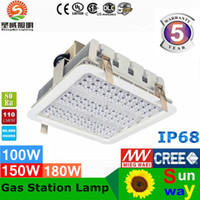 airport station - Explosion proof canopy lights finned radiator W W W LED high bay light for GAS Station lights warehouse lamp years warranty