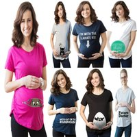 Wholesale PrettyBaby summer maternity t shirt cotton fashion printed maternity short sleeves T shirt