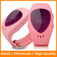 push button phone - New Waterproof Fashion A6 GPS Tracker Watch for Kids Children Smart Watch SOS Google Map Button GSM Phone Wristwatch