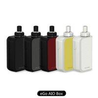 Acheter Commencer ego kit-Authentique Joyetech eGo AIO Boîte de démarrage Kit avec 2ml e-Juice Capacité 2100mAh Built-in Batterie tout-en-un Style eGo AIO Box Kit 100% Original