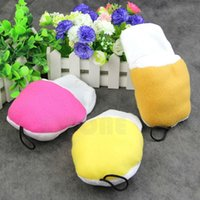 Wholesale 1Pc Cute Dog Pet Puppy Play Chew Squeaker Squeaky Sound Plush Slipper Shape Toy