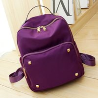 Wholesale Quality fashion waterproof nylon studs rivets backpack bag WB055