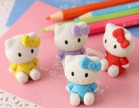 Wholesale Minions Faber Castell Borrachas De Apagar New Kitty Eraser For Kids school Supplies Stationery K6815