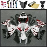 Wholesale 2009 YZFR1 white red flame South Korea South Korea imports ABS Fairing For yamaha YZF R1 YZF R1 R1