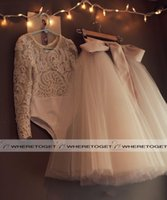 Wholesale 2016 Cute First Communion Dresses For Girls Scoop Backless With Appliques And Bowtulle Ball Gown Pageant Wedding Flower Girl Dress