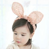 Wholesale Bunny Rabbit Ears Headbands Baby Hair accessories Kids Head band Girls Hair Band Hairbands Toddler Hair Bows Hairbow Headwear Headwrap Gift