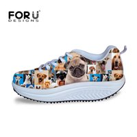 b puzzle - 2016 Fashion Women High Heels Platform Swing Shoes Casual D Animal Puzzle Shoes Cute Pet French Bulldog Wedge Shoes for Health
