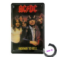 ac dc poster - Tin Sign Wall Decor Retro Metal Art Poster AC DC Highway to Hell Hard Rock Band K14