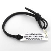 amazing quotes - Eosmer stamped inspiring bracelet You are amazing you can do anythi inspiring quote bracelet Inspiring gift bracelet