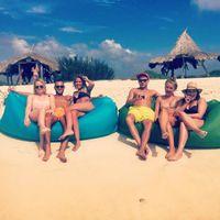 Wholesale DHL Summer hot selling goods air lay bag inflatable bed air lamzac KAISR banana beach boat Bed