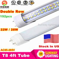 fluorescent bulbs - Stock in US ft led tube W W W Warm Cool White mm ft SMD2835 Super Bright Led Fluorescent Bulbs AC85 V UL