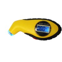 auto gauge sets - New Car Digital Tire Gauge Tyre Air Pressure Measure Tester LCD Display PSI BAR KPA Setting For Auto Moto With Light