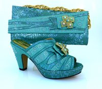 aqua pumps shoes - New fashion Aqua ladies pumps african shoes match handbag set with bowtie and rhinestone decoration for party MM1014 heel CM