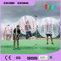 Wholesale 1 m mm PVC Transparent inflatable bumper ball soccer bubble ball zorbing ball loopy ball for sale