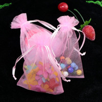 Wholesale Organza Drawstring Gift Bag Romantic Wedding Birthday Girl Tulle Jewelry Beads Food Packaging Storage Carrying Wedding Favor Pouches x23cm