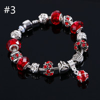 Wholesale Cute Infinity Charm Bracelets - beaded charms jewelry bracelets infinity beads bracelet new fashion 6 colors charm Owl Jewelry fashion Cute European Beads bracelet