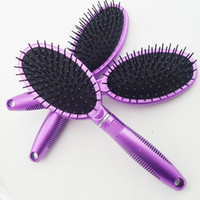 Wholesale Hair Brush Combs Magic Detangling Handle Tangle Shower Hair Brush Comb massage combs Purple Salon Styling Tamer Tool