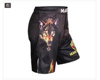 Wholesale NEW Limited Print Men Muay Thai Mma Warrior The New Wolf Mma Shorts Fighting Gym Hayabusa With Original Version