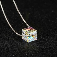 aurora necklace - Fashion Jewelry Polar Aurora Crystal Pendant Necklace Sterling Silver Women High Quality Chain