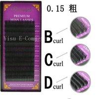 Wholesale New Mix Rows Rough BCD Volume Eyelash Extensions Mink Black Fake False Eyelashes Curl Fine Mink Cashmere Grafted