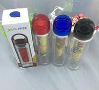 best juice fasts - 700ML Fruit Infuser Water Bottle for Sports Health Juice Maker Best BPA Free Colors Lemon Bottles Tritan Material Fast Way DHLCPA004