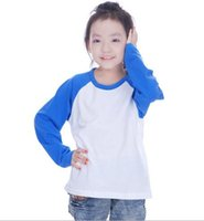 baseball raglan - kids long sleeve raglan baseball cotton tshirt price with high quality for girls and boys
